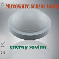 R123WB-9W-S long life span quality LED microwave sensor dusk to dawn ceillight