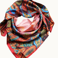 2013 Fashion Red Silk Satin Scarf (AX004)