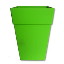 square colourful tall pp plastic planter pot for garden