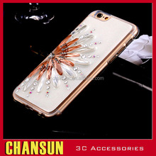 TPU Crystal Glitter Case With Diamond For iPhone6s Jewelry Sunflower Cover