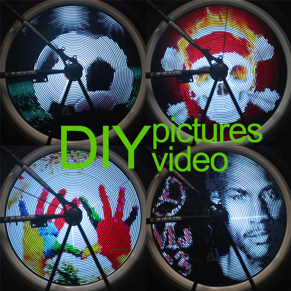 DIY Video version 216 LED Colorful mountain bicycle wheel light
