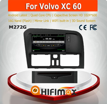 HIFIMAX Android 4.4.4 car multimedia for VOLVO XC60 with 4 Core CPU 16G Hard disk HD1024*600 capacitive screen