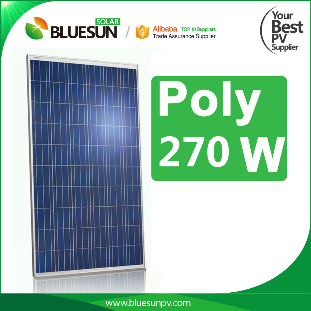 Made in China high efficient 270watt hanwha solar panel for pump