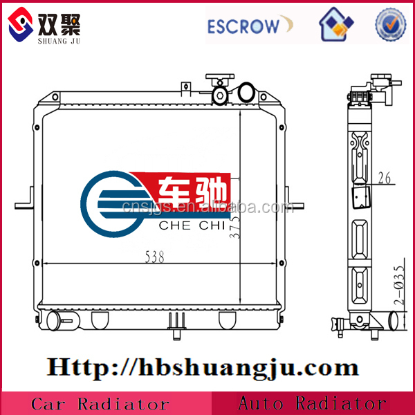 Radiator tank plastic parts
