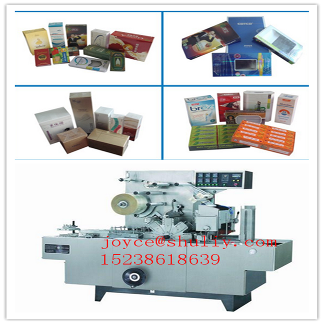 cellophane film wrapping machine with gold tear tape Adjustable Cellophane Film wrapping machine
