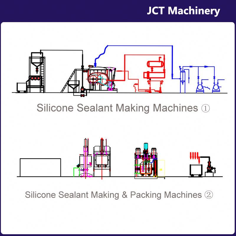 machine for making metal to metal silicone sealant