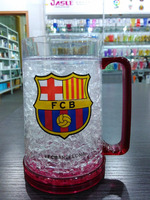 HT01 FCB 16OZ high quality freezer mug for beer with crystal gel inside with handle from factory