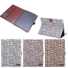 Leopard pattern leather cover for iPad air 2, for ipad6 housings