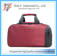 Classical Holdall Two Tone Nylon Travel Bag