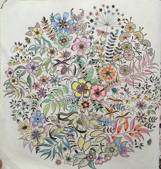 2015 New Arrive Hand Painted Coloring Book Secret Garden For Children And AdultHot Sale Secret