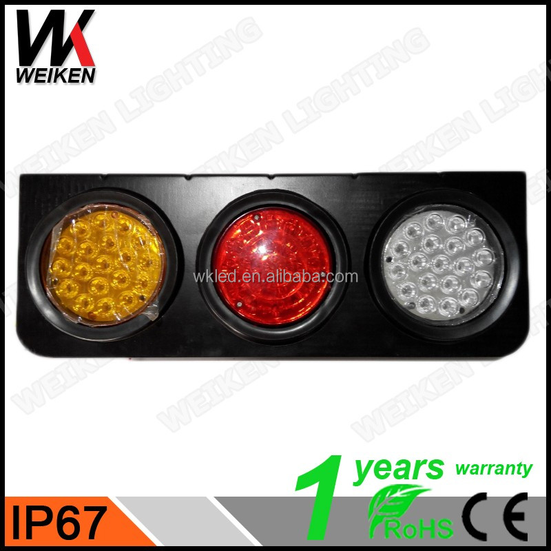 WEIKEN amber Round Vehicle Truck Trailer Led Tail Light/ bus rear light