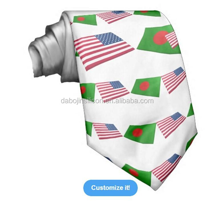 Wholesale latest fashion silk print cheap Bangladesh flag <strong>tie</strong>