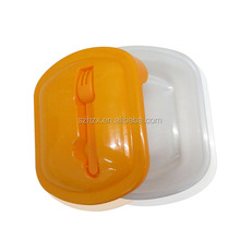 Cheap Price Promotional Cutlery Included Plastic Lunch Box