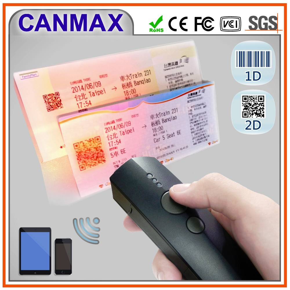 Bluetooth 2D wireless barcode scanner with memory support mobile phone