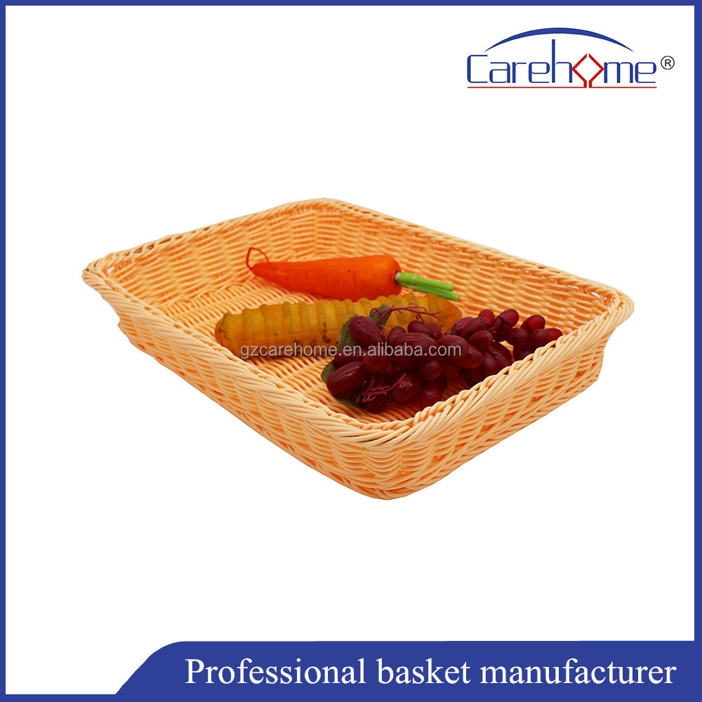 Durable food basket plastic rattan bread basket
