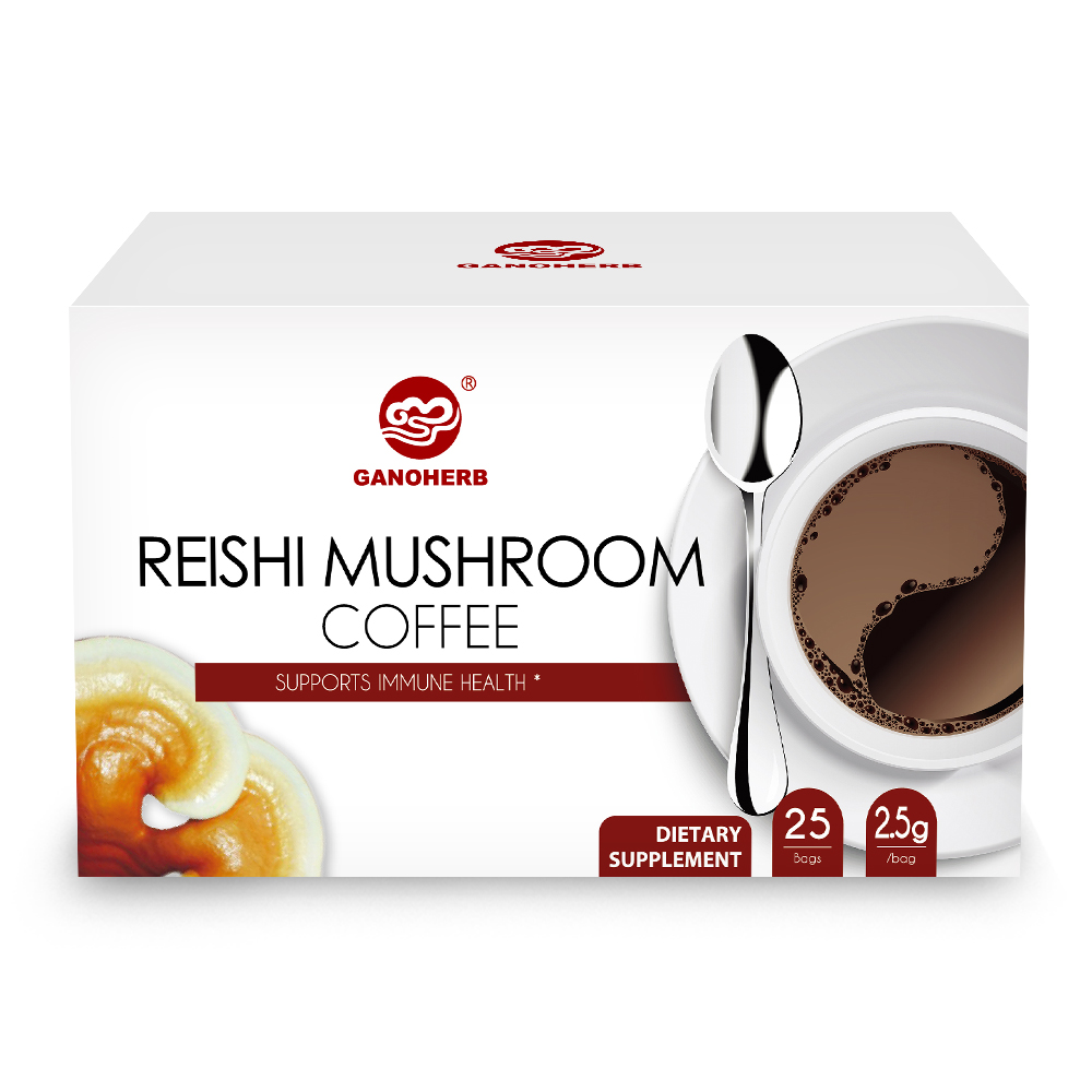 Hot Sale 100% Organic Certificated Black <strong>Coffee</strong> Ganoderma Reishi Mushroom Lingzhi Instant <strong>Coffee</strong>