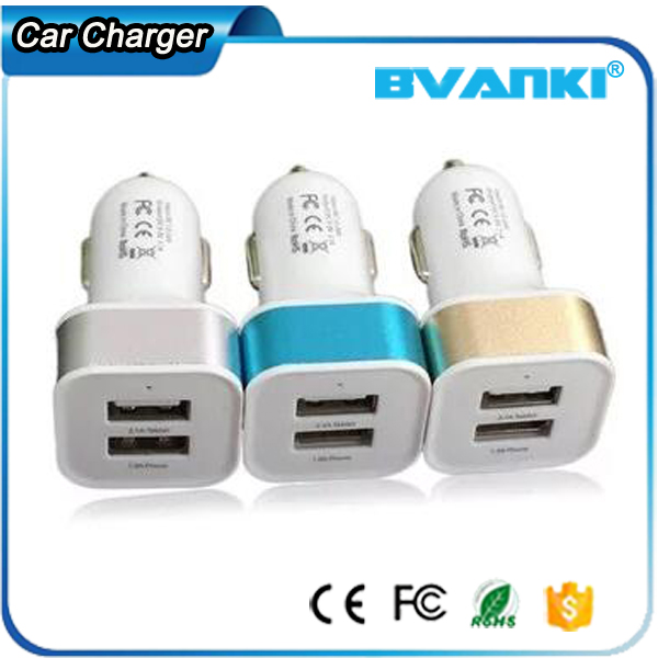 Best Selling Mobile Accessories 5V 2 Amp Dual USB In Car Charger Electrical Outlet Car Charger With USB
