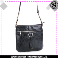 Factory supply competitive price shoulder bag women bags with interior zipper pocket