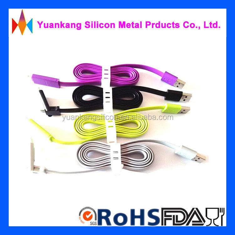 silicone cable wire organizer for USB,data line,mobile phone earphone