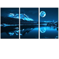 Wholesale Full Moon Picture Canvas Prints Nature Landscape Canvas Photo Printing Bedroom and Living Room Decor