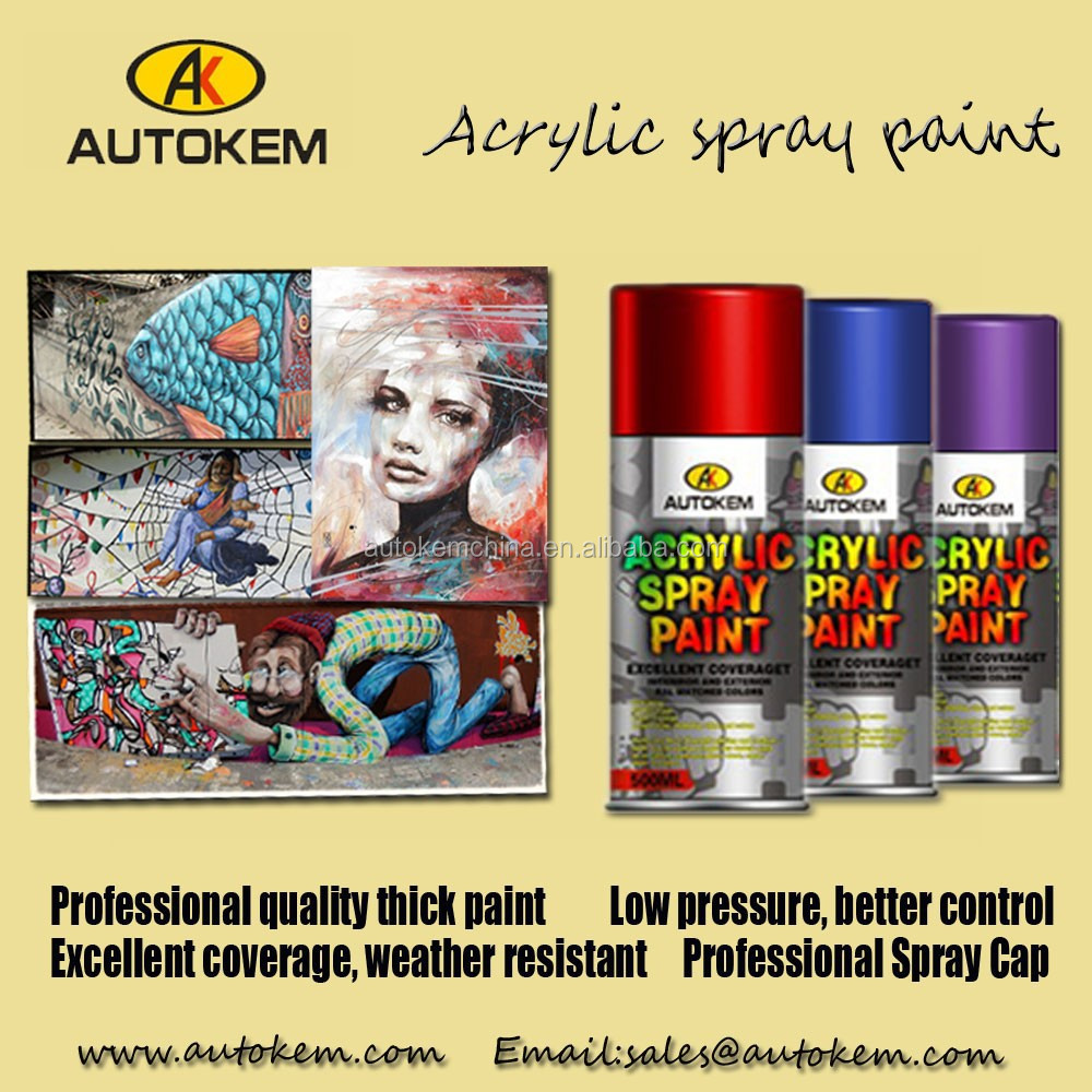 Msds for spray paint acrylic resin aerosol spray paint/ many colors for choice
