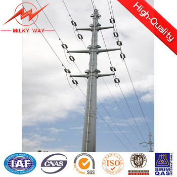 highly quality assured best galvanized street light electric pole