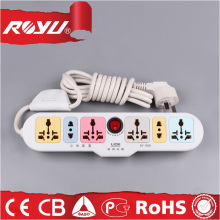 high quality plastic universal electrical portable travel extension cord