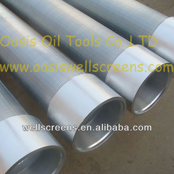 galvanized low carbon steel water well screen pipe