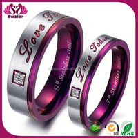 Rose Red Color Stainless Steel 49Ers Wedding Rings