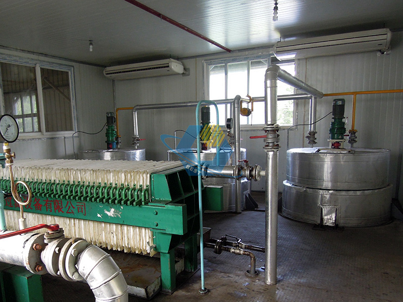 Automatic continuous vegetable oil refining machine
