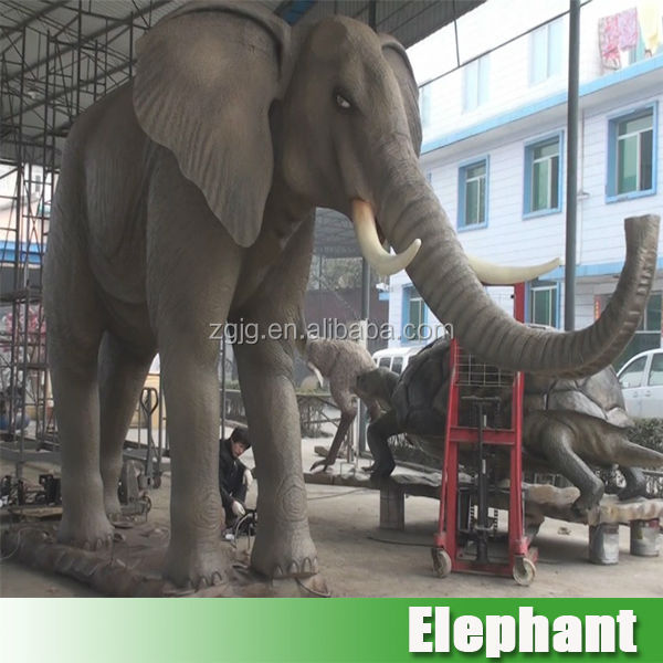 High simulation indoor and outdoor life size elephant statues