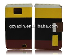 Multicolored Mobile Phone Leather Case for SamSung Galaxy S2 i9100,Wholesale Price for Samsung Galaxy S2 Case
