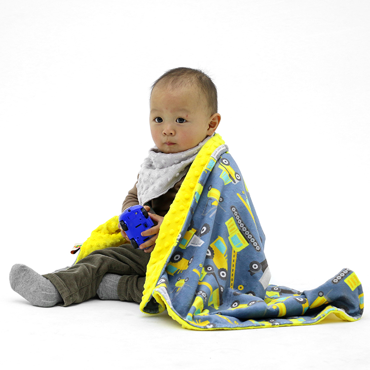 Wholesale luxury soft personalized designed minky blanket for <strong>baby</strong>