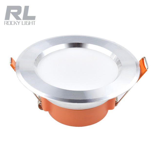 Three color change Plastic ceiling recessed led downlight