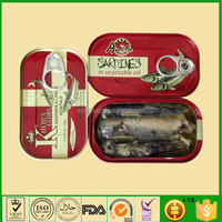 Cheap 125g Canned Sardine Fish in Vegetable Oil Manufacturer