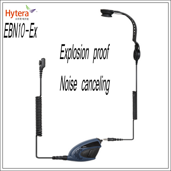 EBN10-Ex Bone-conduction headset with PTT for the PD795 Ex