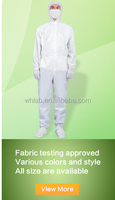 High quality nonwoven laminated white disposable paintball overall