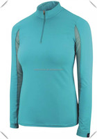 2016 new design Antimicrobial polyester spandex Cool dry fit long sleeve 1/4 pullover jersey custom for riders