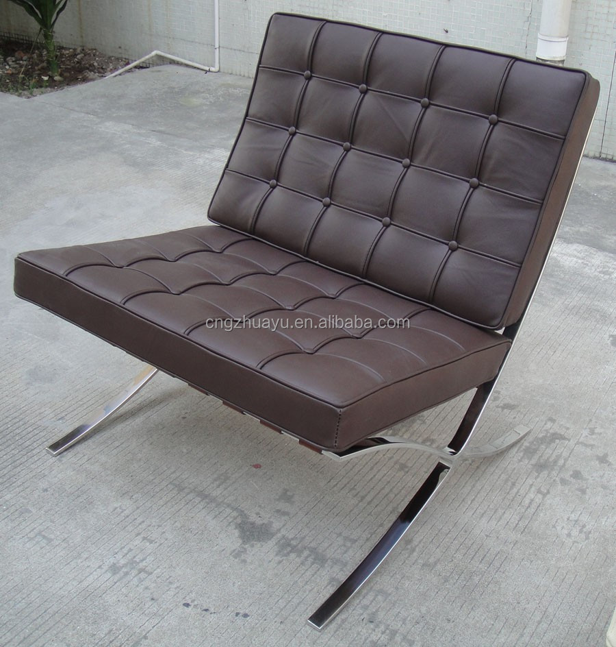 Living Room Furniture Genuine Leather Barcelona Chair
