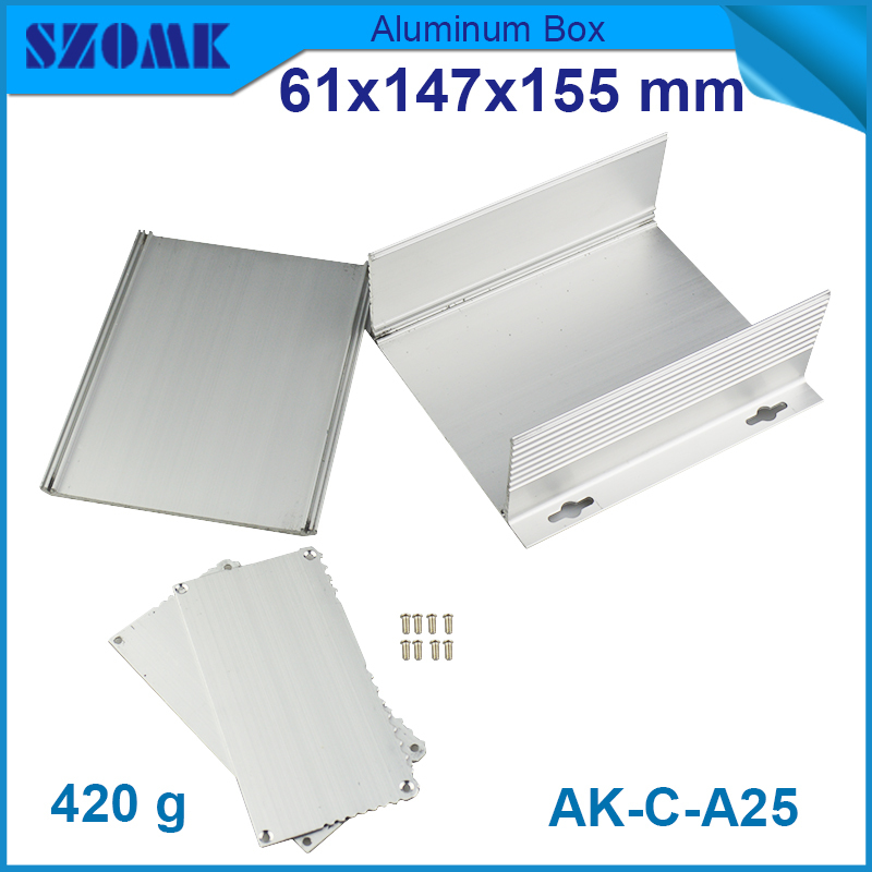 aluminum extrusion case 61X147X155 mm aluminium junction box extruded electronic enclosure