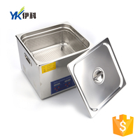 High capacity 14l filter benchtop dioxide ultrasonic cleaning