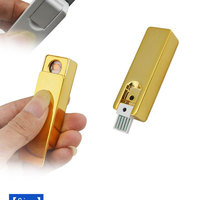 New rechargeable USB lighter gold metal taj mahal souvenir gift