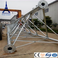 Galvanized self supporting telecommunication antenna tower
