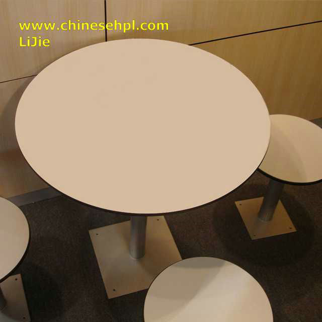 modern fashion no deform phenolic material scratch resistant hpl table top