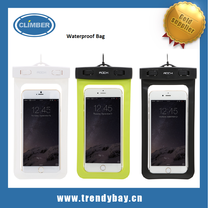 Rock brand waterproof pouch underwater dry bay phone bag case cover for cell phone below 6 inch