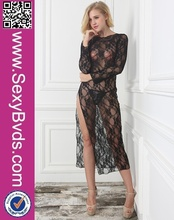 No MOQ Ladies Sexy Transparent Night Gown