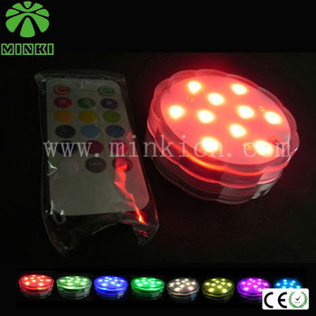 pool wedding decorations popular in Japan multicolor changing remote control led light base stand