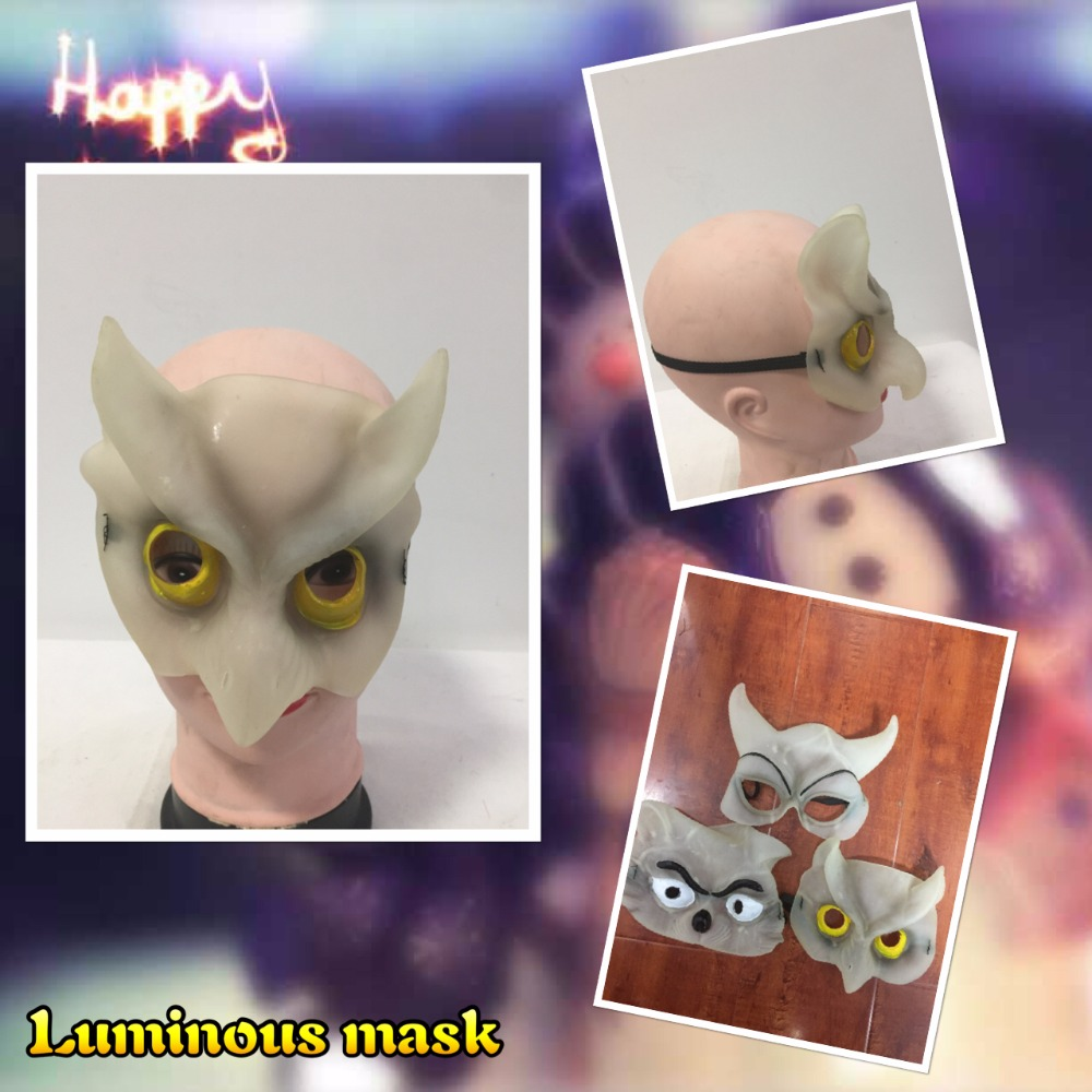 Cheap price Factory direct sale halloween mask,PVC mask.animal luminous mask.halloween mask,party mask