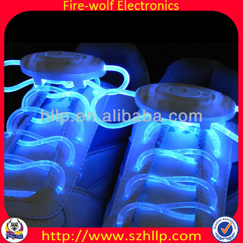 Fiber optic neon glow light up led shoelace for the dark race party dj