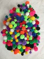 beautiful yellow pom pom with high quality low price for Christmas decorations